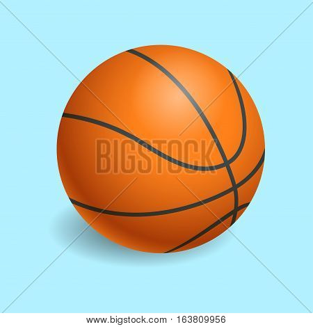 Basketball isolated on a white background as a sports and fitness symbol of a team. Fitness symbol