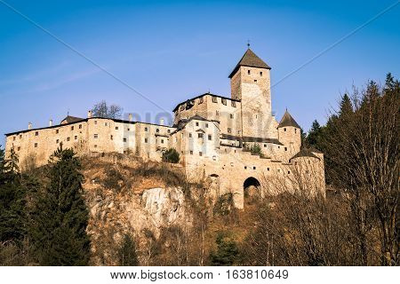 Castle Taufers in Campo Tures Valle Aurina Italy.