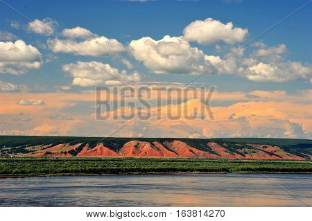 Altai. Altai Territory is beautiful. Mountains, plains, rivers - all great! And the sky is blue, the wonderful sunrises.