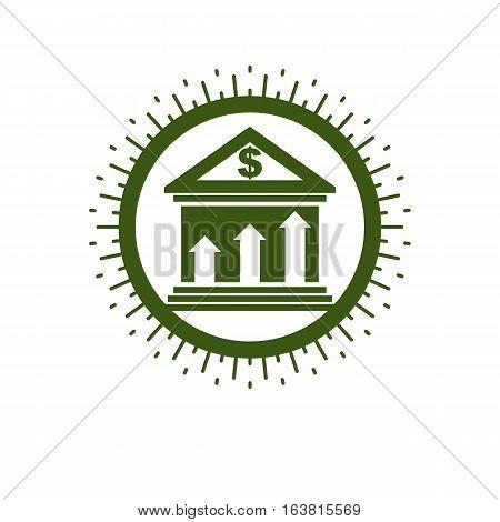 Banking conceptual logo unique vector symbol. Banking system.