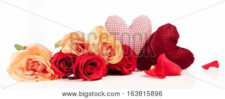 Panorama With Roses And Hearts