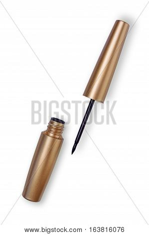 Cosmetic eyeliner isolated on a white background