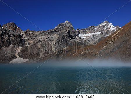 Scene in the Gokyo valley Everest National Park.