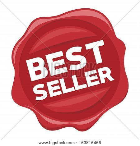 best seller red stamp vector illustration design
