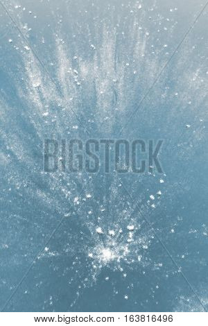 Abstract textured or mosaic blue and white background
