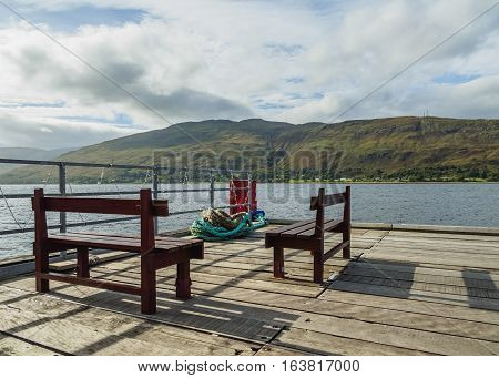 Loch Linnhe In Scottish Highlands