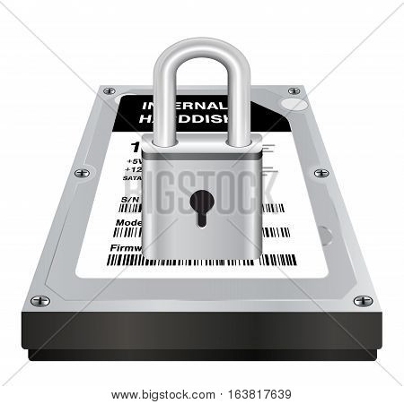 real 3d internal harddisk storage with a steel master lock protect data