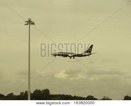 Ryanair Boeing 737-800 Landing In Stansted