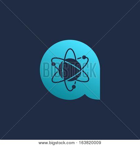 Letter A Atom Logo Icon Design Template Elements