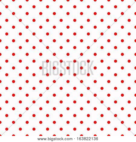 Background image. Polka dots. Red color pattern