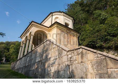 Ninth Chapel At Sacro Monte Di Varese. Italy