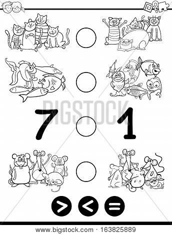 Greater Less Or Equal Coloring Page