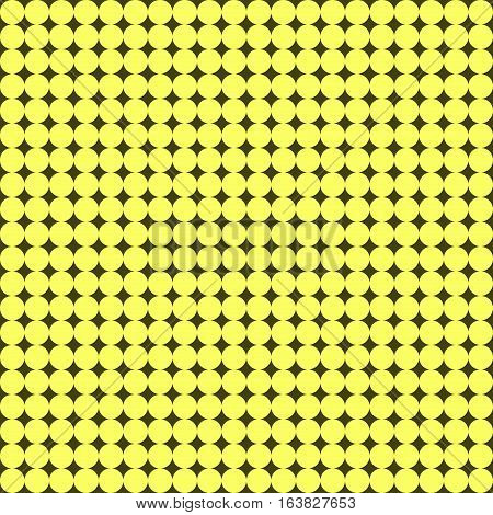 Seamless pattern with many little yellow circles on red dark background