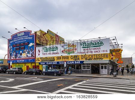 The Nathan's Original Restaurant At Coney Island,