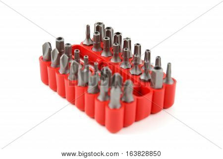 stock pictures of interchangable screw tips in screwdrivers