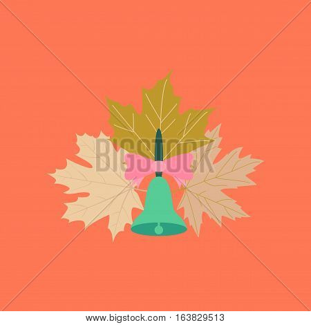 flat icon on stylish background education school bell
