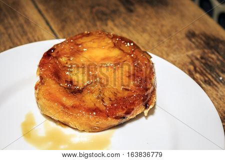 Crema Catalana Pastry Served In Catalan Restaurant, Spain