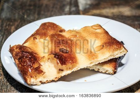 Catalan Pastry With Pine Nuts