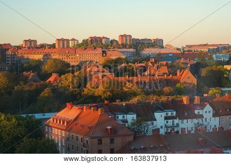 Early autumn morning in Gothenburg. Gothenburg is the second largest city in Sweden.
