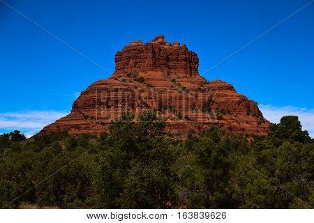 Sedona's Bell Rock Juts Up From the Desert Floor