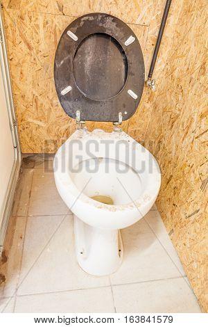an public toilet in an public building