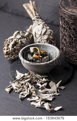 Incense of Salvia Apiana (White sage, sacred sage, bee sage, california sage)