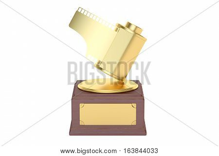 Photo award concept. 3D rendering isolated on white background