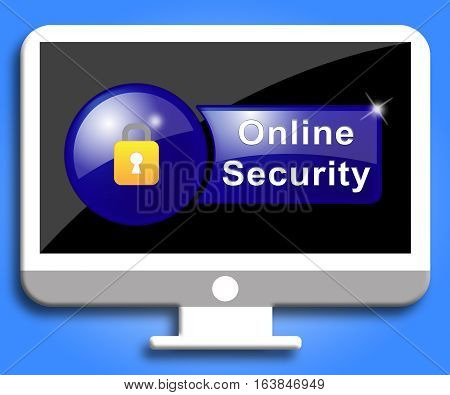 Online Security Shows Site Protection And Encryption