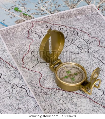 Compass On Maps