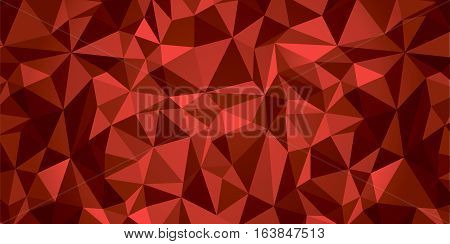 Abstract vector geometry background, red crystals, more surfaces, debris wallpaper