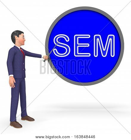Sem Sign Means Sales Promotion 3D Rendering