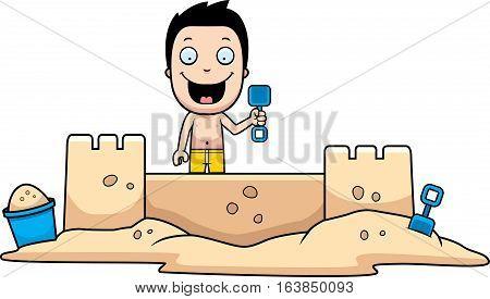 Boy Sandcastle