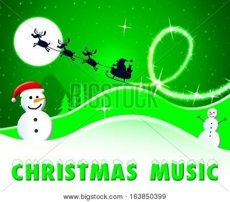Christmas Music Shows Xmas Song 3D Illustration