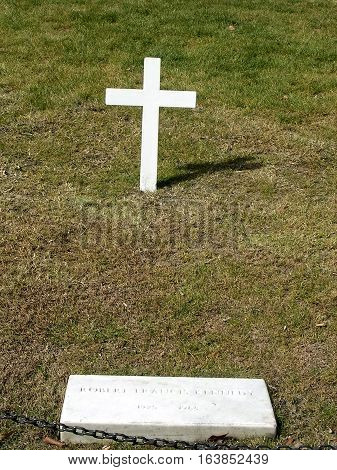 Arlington USA - October 18 2004: Robert Kennedy Grave in Arlington National Cemetery.