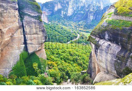 the huge rocks of Meteora Kalabaka Greece