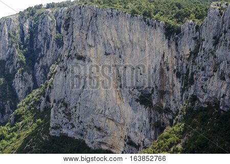 View Of The Verdon Gorge, In Southern France