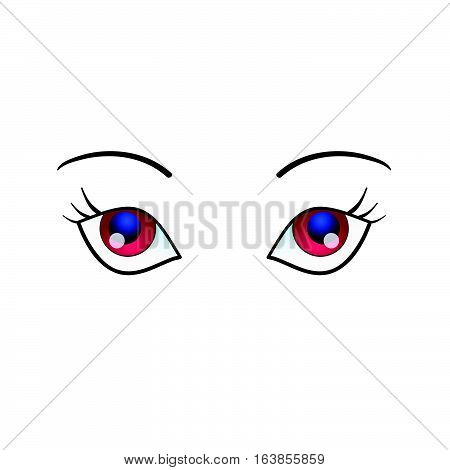 Woman Eyes Beauty Illustration On White Background