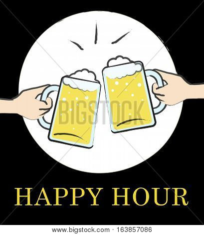 Happy Hour Pub Shows Discount Bar Or Tavern