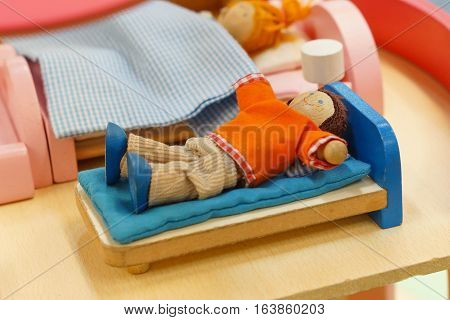 Wooden doll toys for kid to play