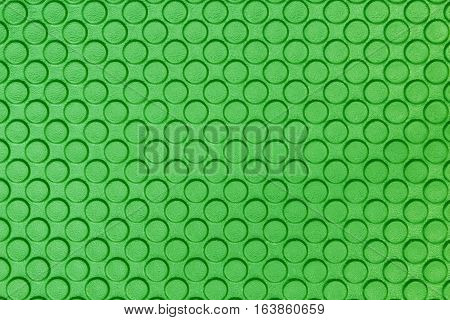 close up Green Eva ethylene foam texture