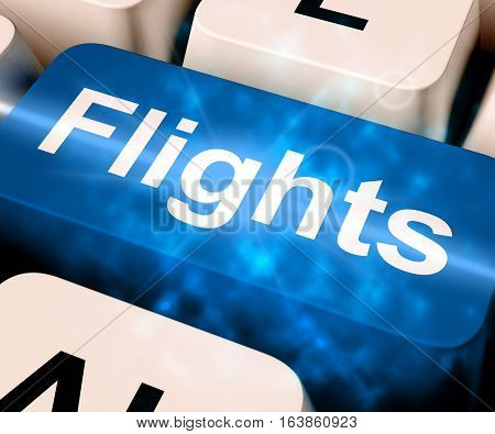 Flights Key For Overseas Vacation 3D Rendering