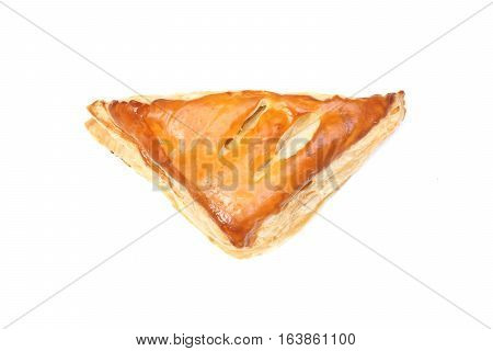 Bakery - Chicken pie isolated on white background