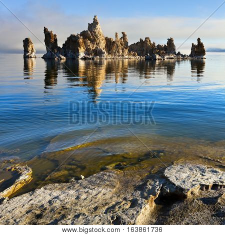 Mono Lake tufa formation. This one is called The Battleship.