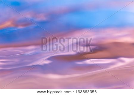 Abstract Macro Of Moving Waves On Luquid