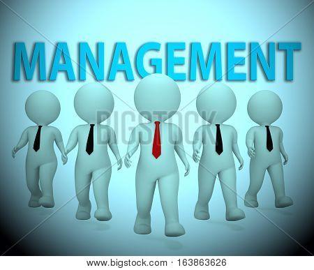 Management Bosses Means Managing Directors 3D Rendering
