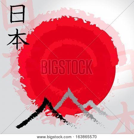 The Orient Symbols Indicate Asian Tours 3D Illustration