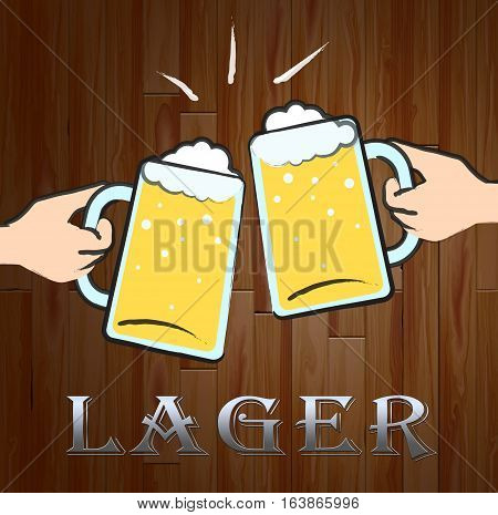 Lager Beer Shows Public House And Ales