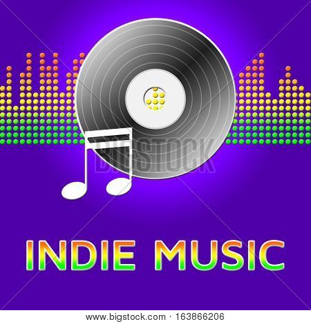 Indie Music Shows Sound Tracks 3D Illustration