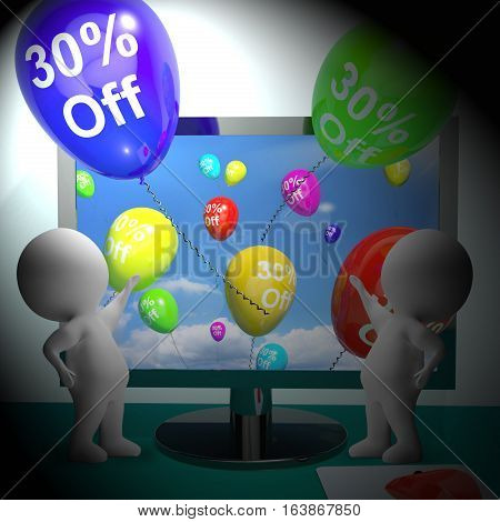 Sale Discount Of Thirty Percent 3D Rendering