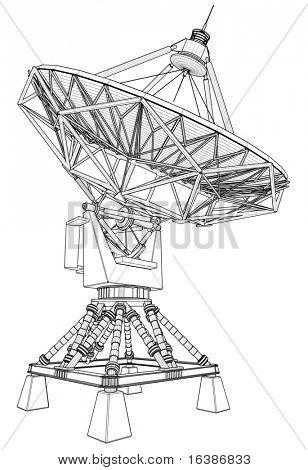 doppler radar: 3d technical draw